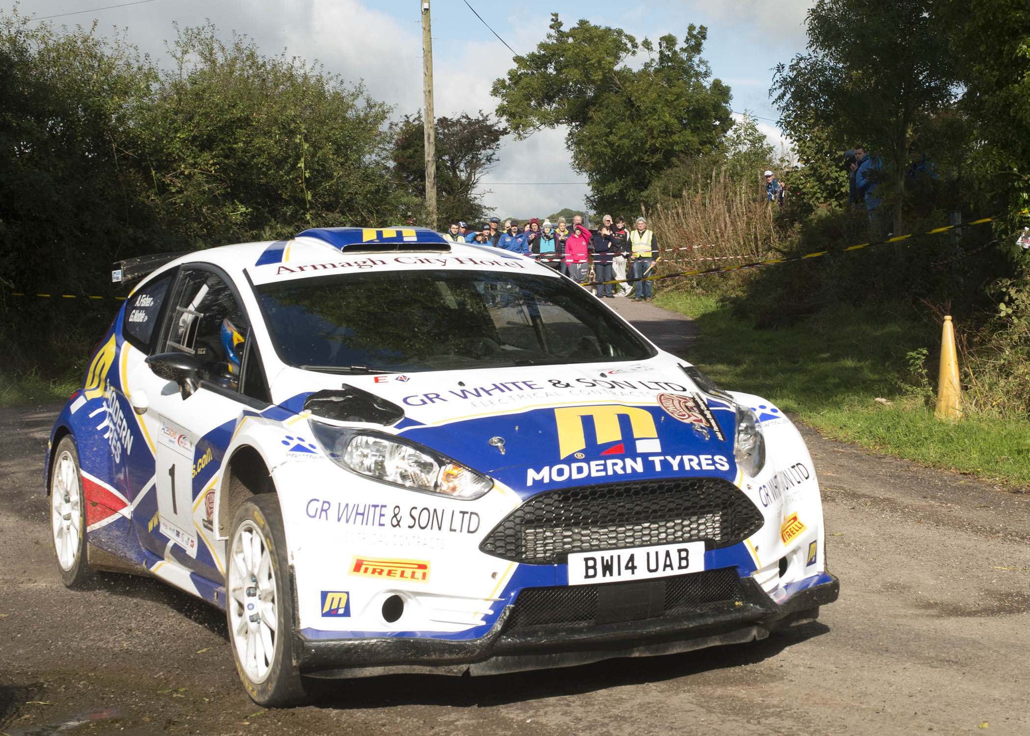Alastair Fisher/Gordon Noble (Ford Fiesta R5).  Photo: Martin Walsh