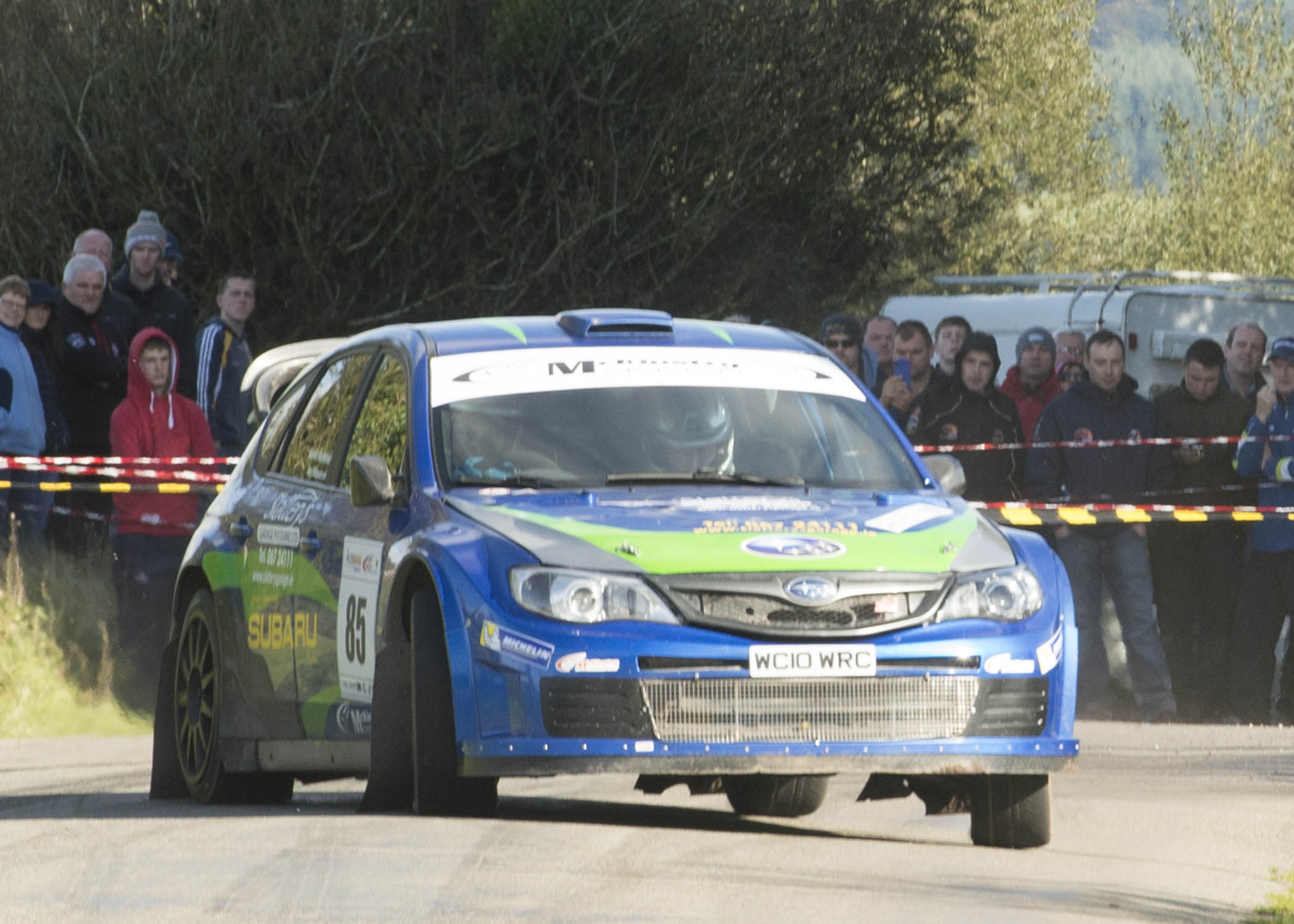 "Clonakilty's Kevin Kelleher (Subaru WRC) and co-driver Ray Fitzpatrick finished seventh overall in the recent Acesigns Cork ""20"" International Rally. Photo: Martin Walsh."